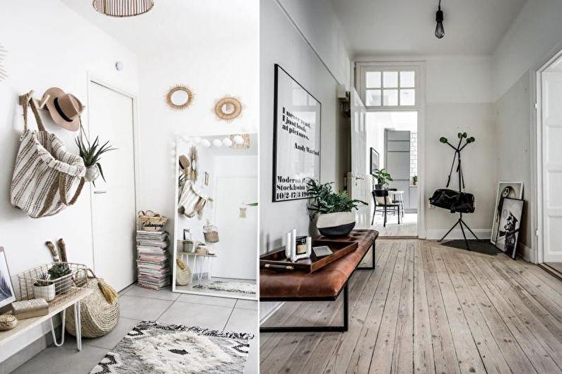 Прихожая - Дизайн квартиры в скандинавском стиле