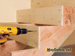Как построить деревянную лестницу на второй этаж – технология изготовления – схема и видео