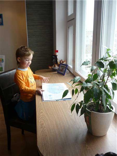 Идея широкого стола - подоконника своими руками