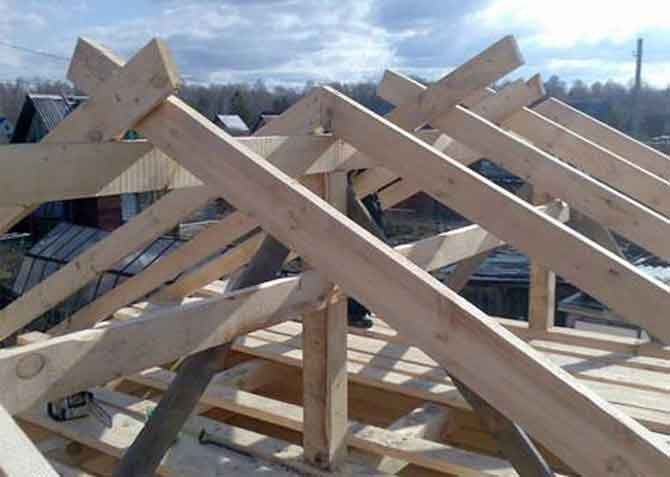 Процесс установки крыши