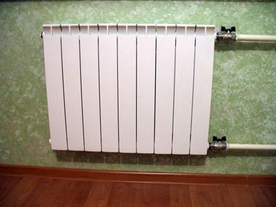 подключенная батарея отопления