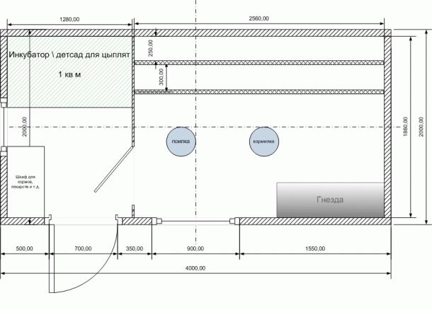 Примерная схема планировки строения