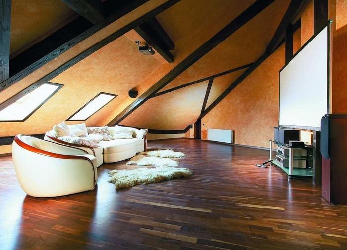 Мансарда на даче (53 фото): возведение и отделка помещения под кровлей