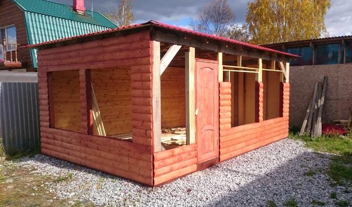 Строительство каркасного дома 6 на 4 с обшивкой блок хаусом.