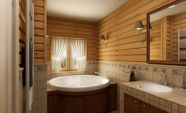 как сделать ванную комнату в частном доме, фото 5