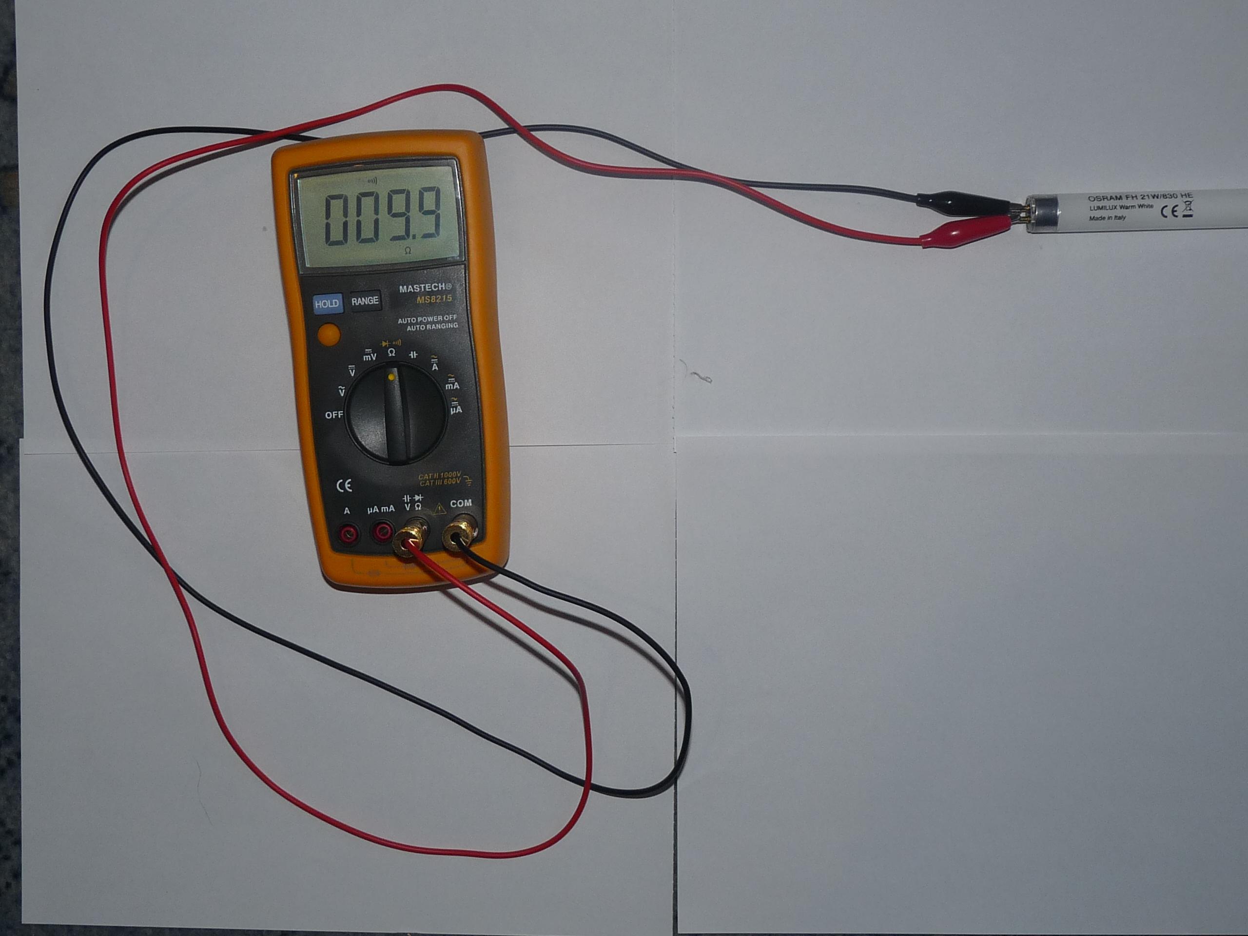 Проверка ламп дневного света мультиметром