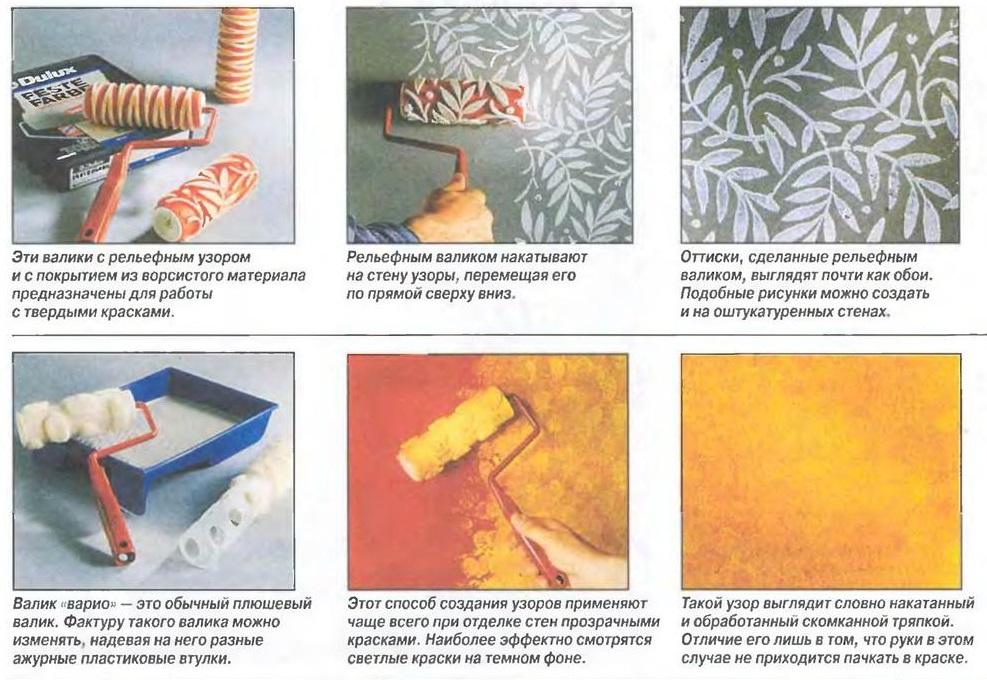 Популярные виды рельефных валиков и особенности их применения