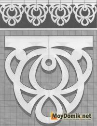 Шаблон наличников на окна - 12