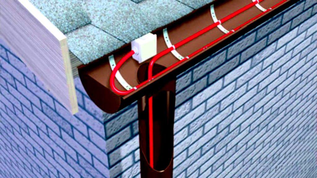 Технология обогрева водосточных труб и желобов саморегулирующим кабелем