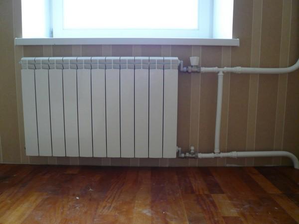 однотрубная схема подключения радиатора