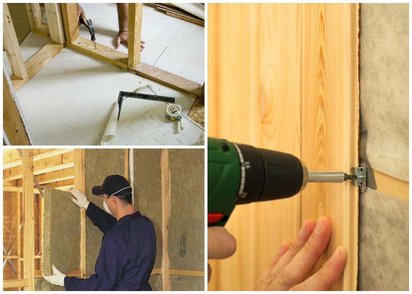 Изготовление деревянной перегородки