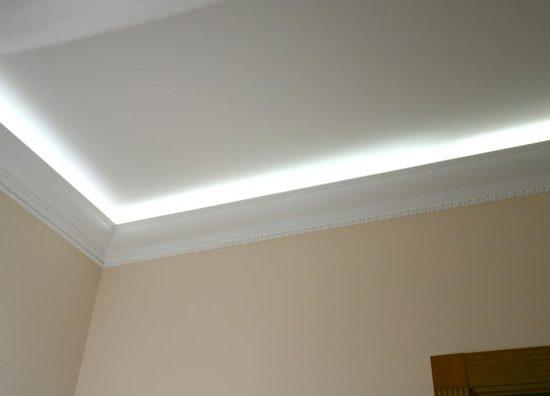 Как сделать неоновую подсветку потолка