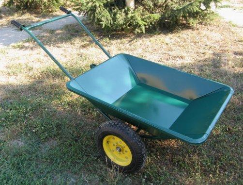 Сделать садовую тачку для перевозки грузов своими руками не слишком сложно