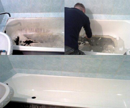 Пошаговая покраска ванны акрилом