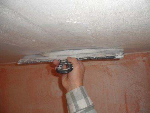 Шпатлёвка потолка