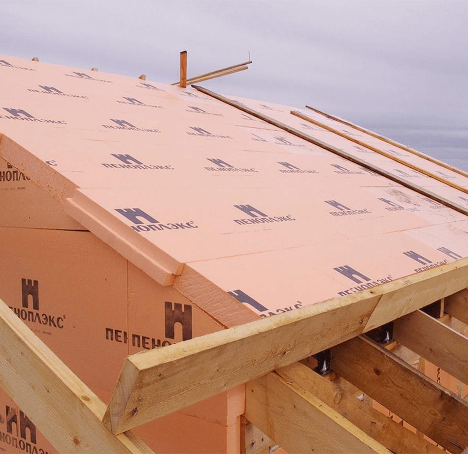 Внешний вид крыши мансарды, утеплённой экструдированным пенополистиролом
