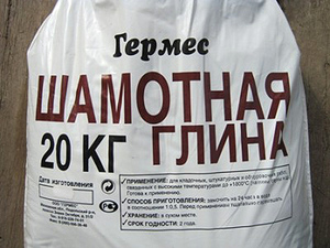 Упаковка глины для штукатурки