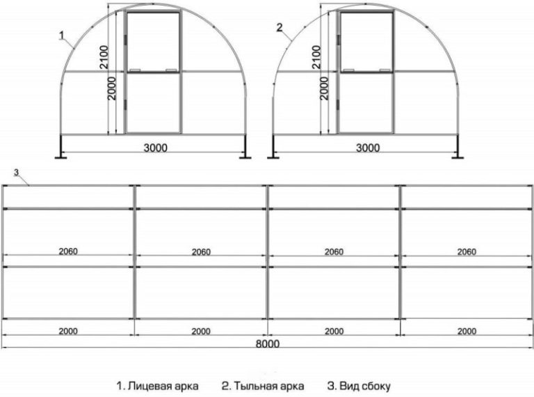 Как строится теплица из поликарбоната своими руками (чертежи)
