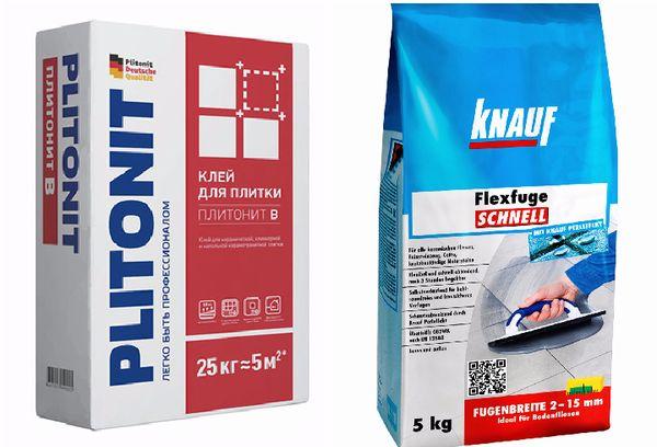 Плитонит В и Knauf Fliesen