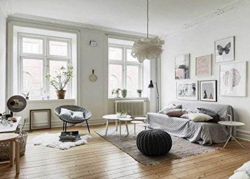 Гостиная в скандинавском стиле (60 фото)