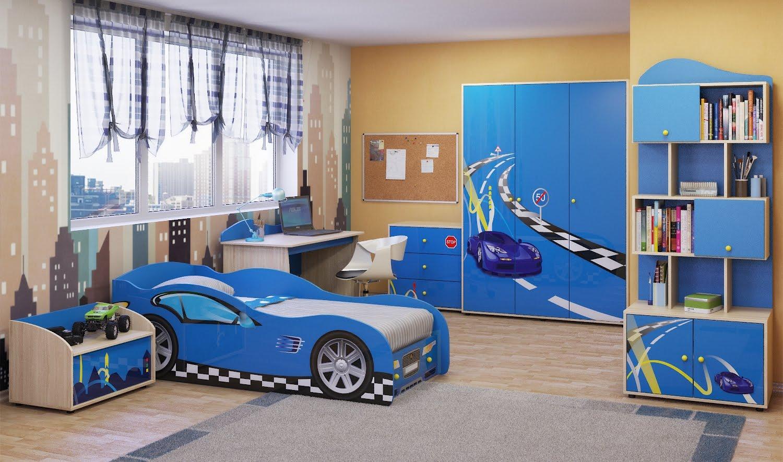 большая спальня для мальчика дизайн