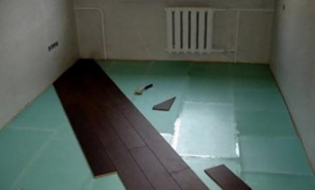 Монтаж ламината по диагонали со средины комнаты