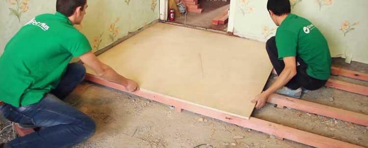 Пол из фанеры по лагам своими руками — пошаговая инструкция от подготовки до монтажа
