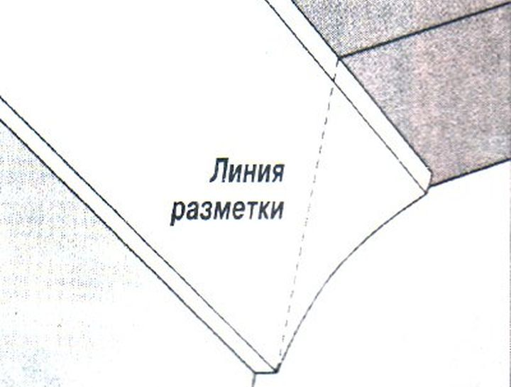 Разметка багета приложенного к стене