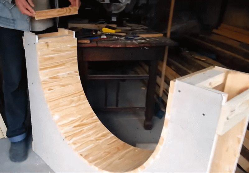 Создание наборной арки из дерева