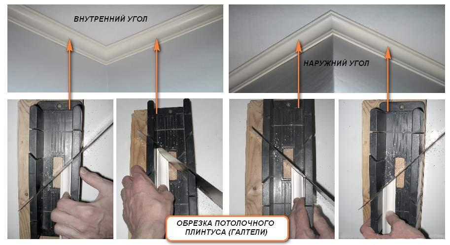Обрезка фриза для внутренних и наружных углов