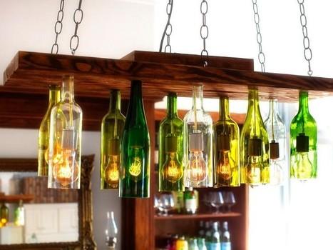 Бутылки-люстры