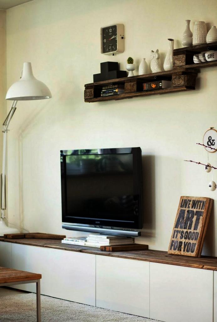 Фото 22 Как спрятать провода от телевизора на стене? Секреты, дизайнерские идеи и лайфхаки