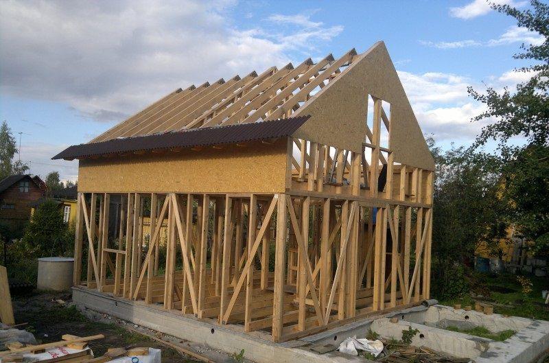 Начало обшивки крыши ондулином поверх обрешетки и мембраны
