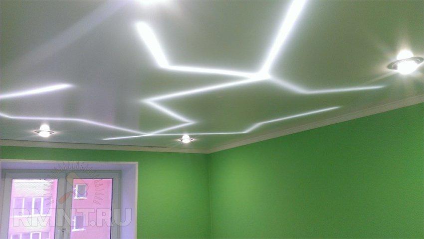 Размещение светодиодной подсветки Внутри подвесного потолка