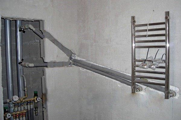 Перенос и подключение к системе отопления