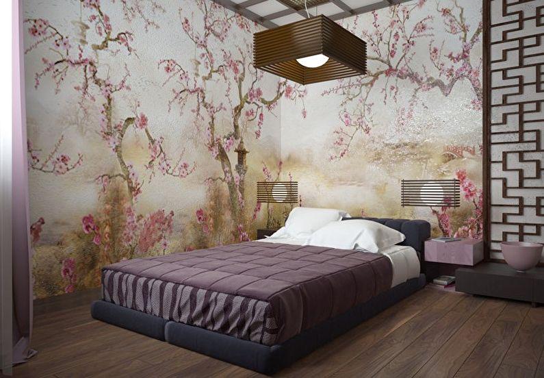 Обои для спальни в японском стиле