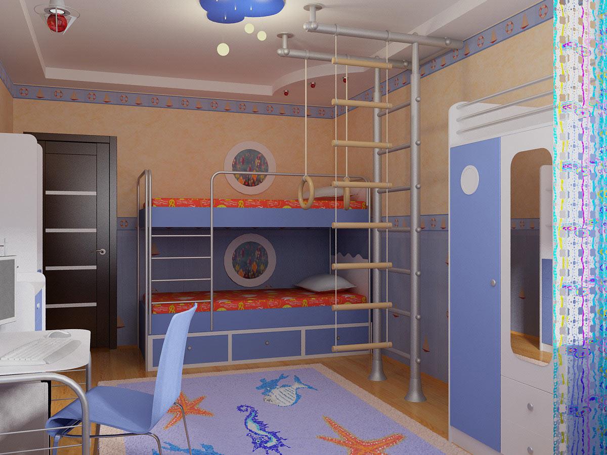 необычная спальня для мальчика