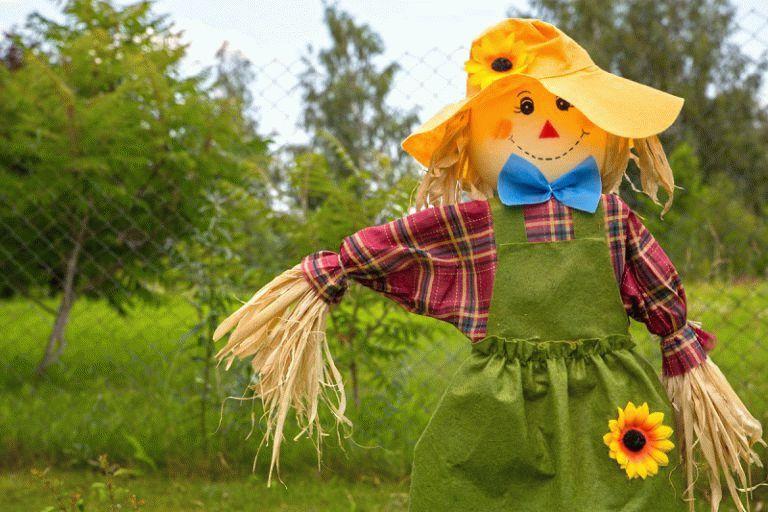 Как сделать чучело на огород своими руками