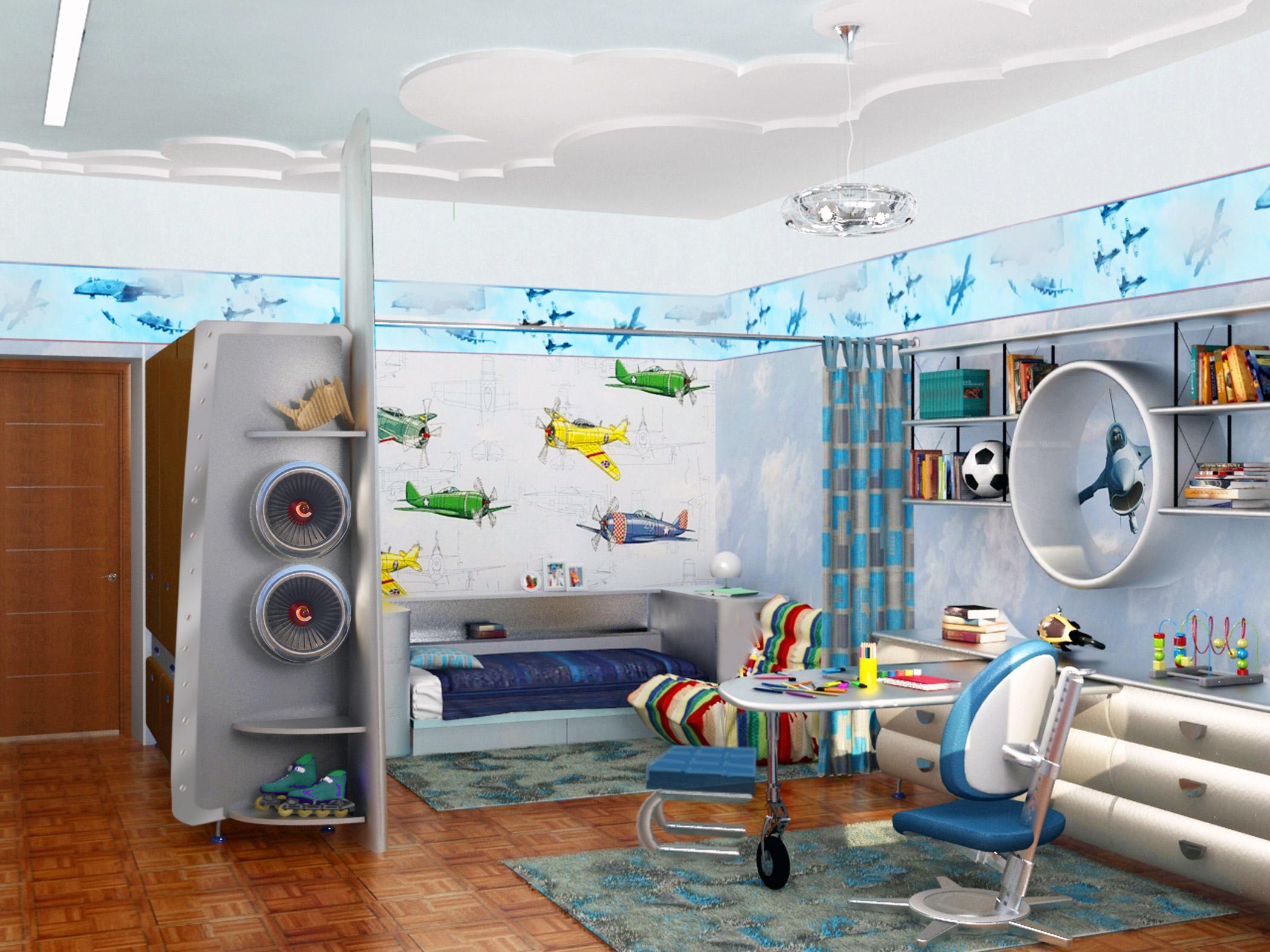 большая спальня для мальчика фото