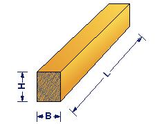 Определение размеров бруса для расчета