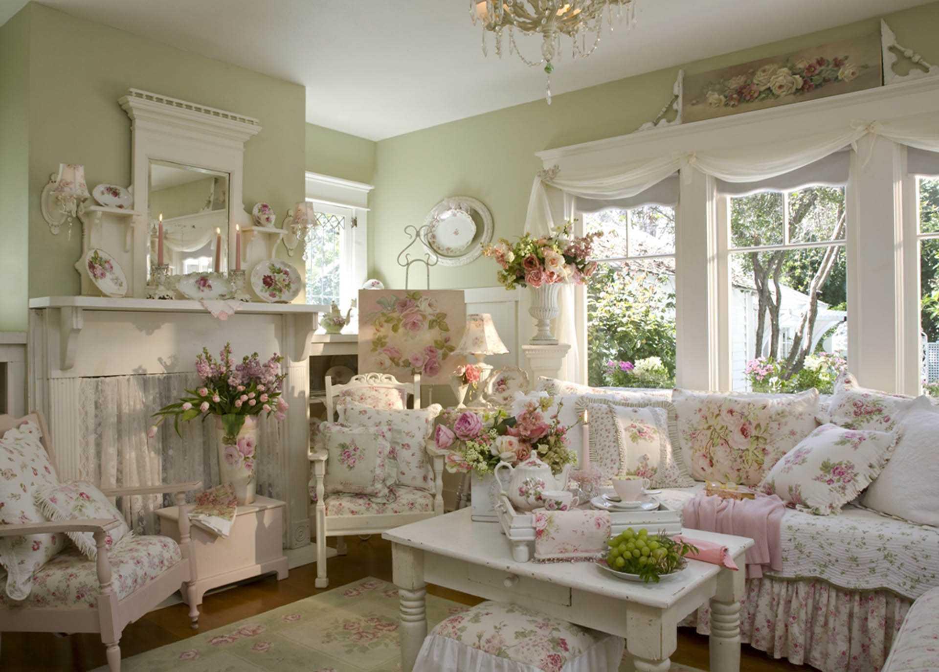 Простая, стильная мебель в прованском стиле