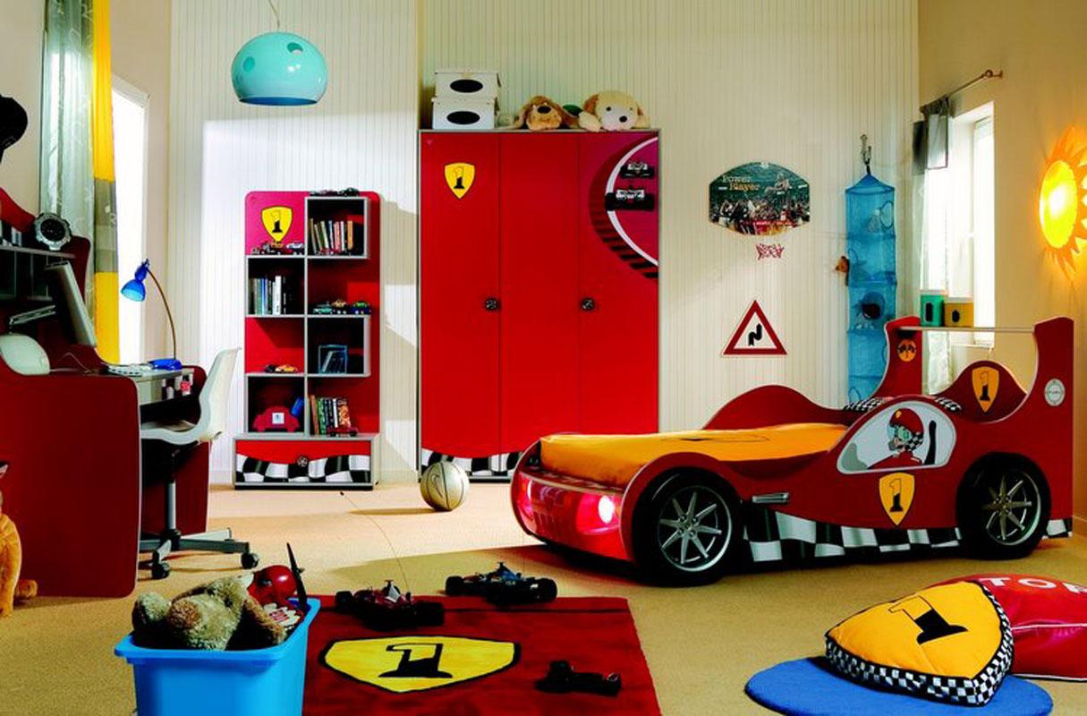 светлая детская комната для мальчика картинка