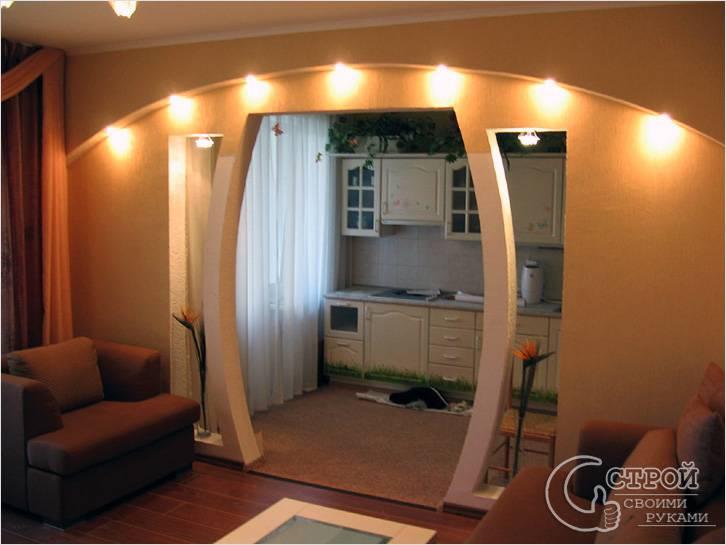 Фигурная арка из гипсокартона