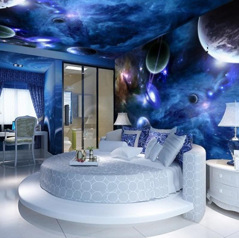Фотообои в интерьере спальни 7
