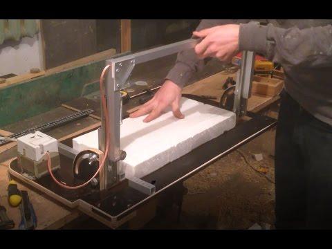 Резка пенопласта на станке и ножом