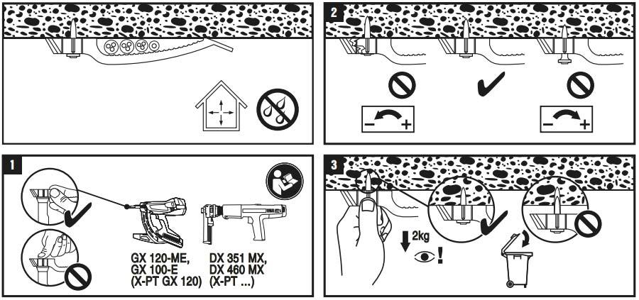 Крепеж для провода и кабеля по стене и потолку. Использование монтажных пистолетов.
