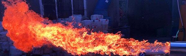 Пламя масляной горелки