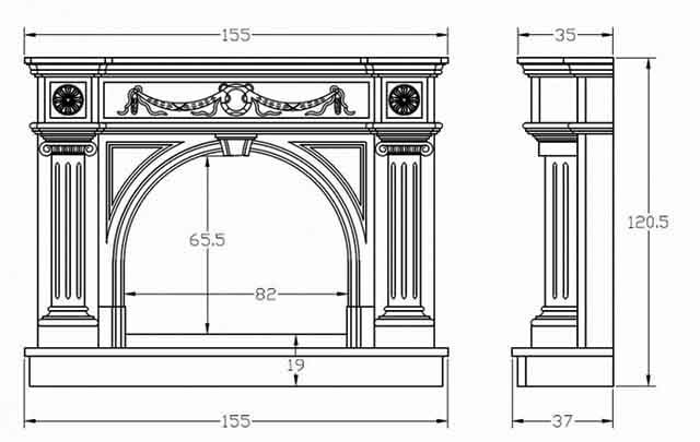 Схема арочного портала