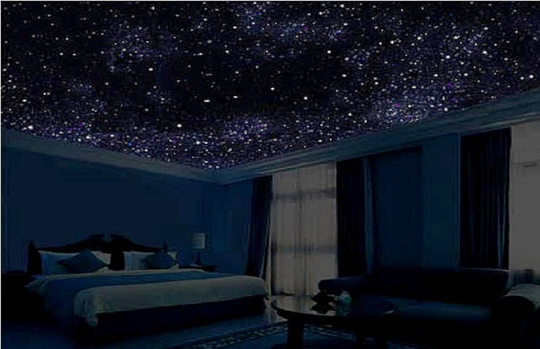 Потолок звездное небо своими руками