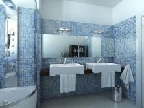 Мозаика на стенах санузла